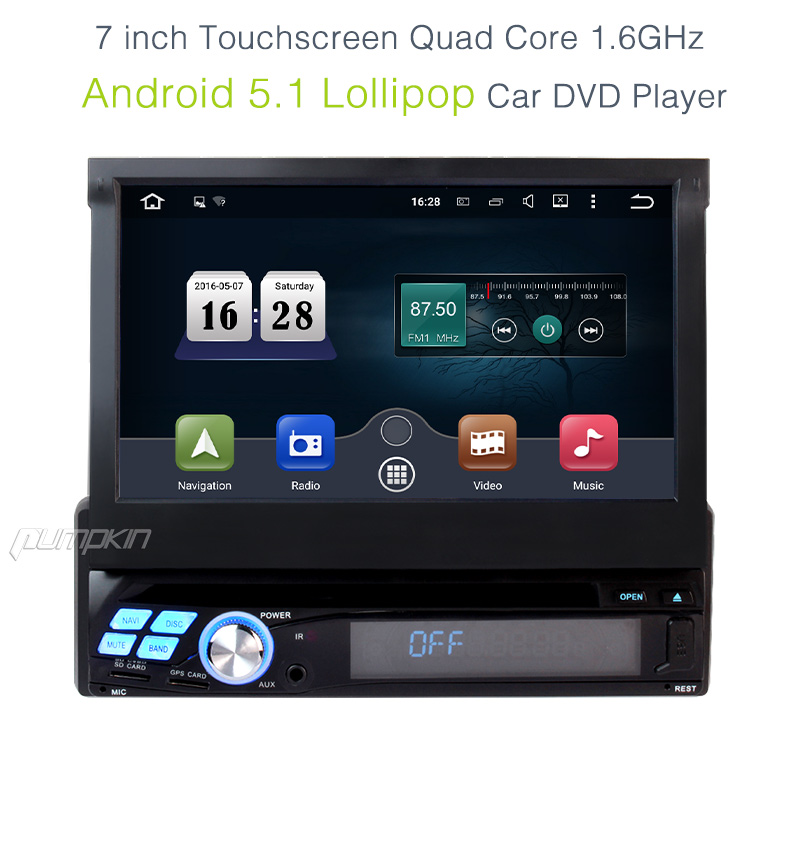android 5 1 1din car stereo radio gps navi dvd player. Black Bedroom Furniture Sets. Home Design Ideas