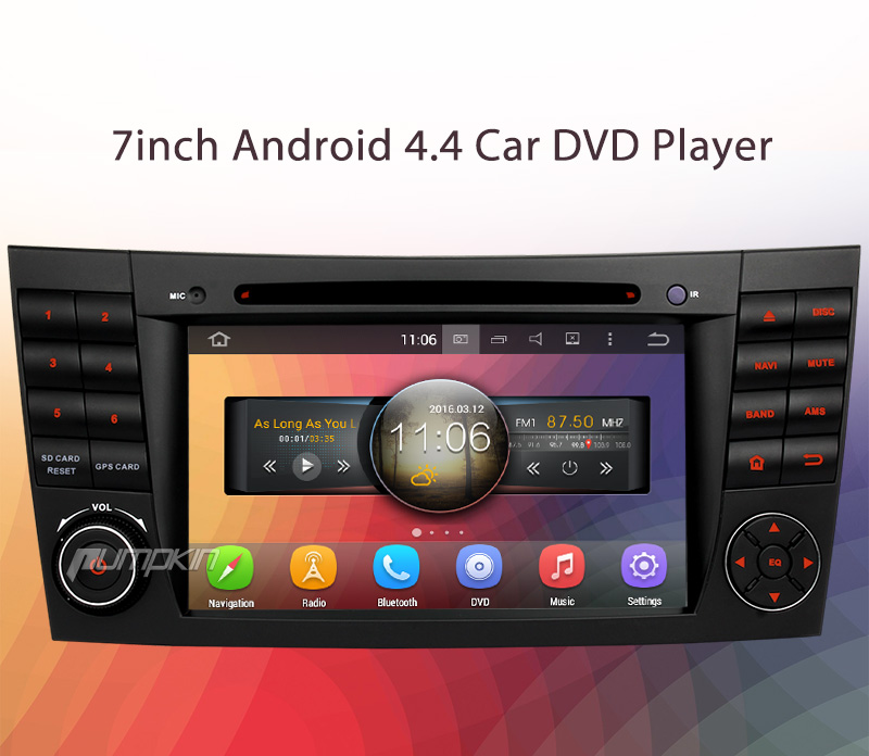 7 2din android 4 4 car radio stereo dvd gps for mercedes. Black Bedroom Furniture Sets. Home Design Ideas