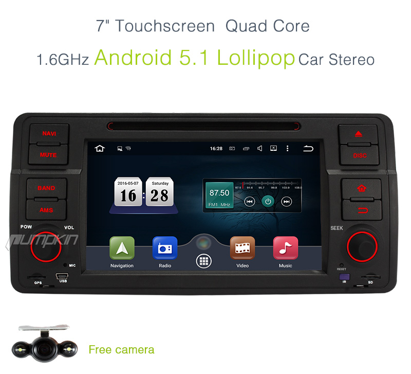 2din android 5 1 headunit radio for bmw 3 serie e46 m3 dvd. Black Bedroom Furniture Sets. Home Design Ideas