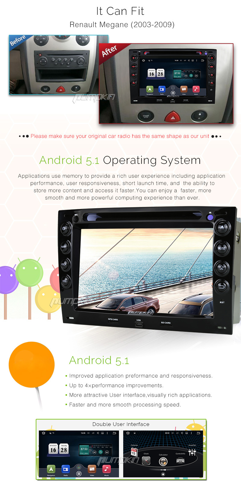 pour megane renault lecteur dvd de voiture autoradio android 5 1 gps obd2 st r o ebay. Black Bedroom Furniture Sets. Home Design Ideas