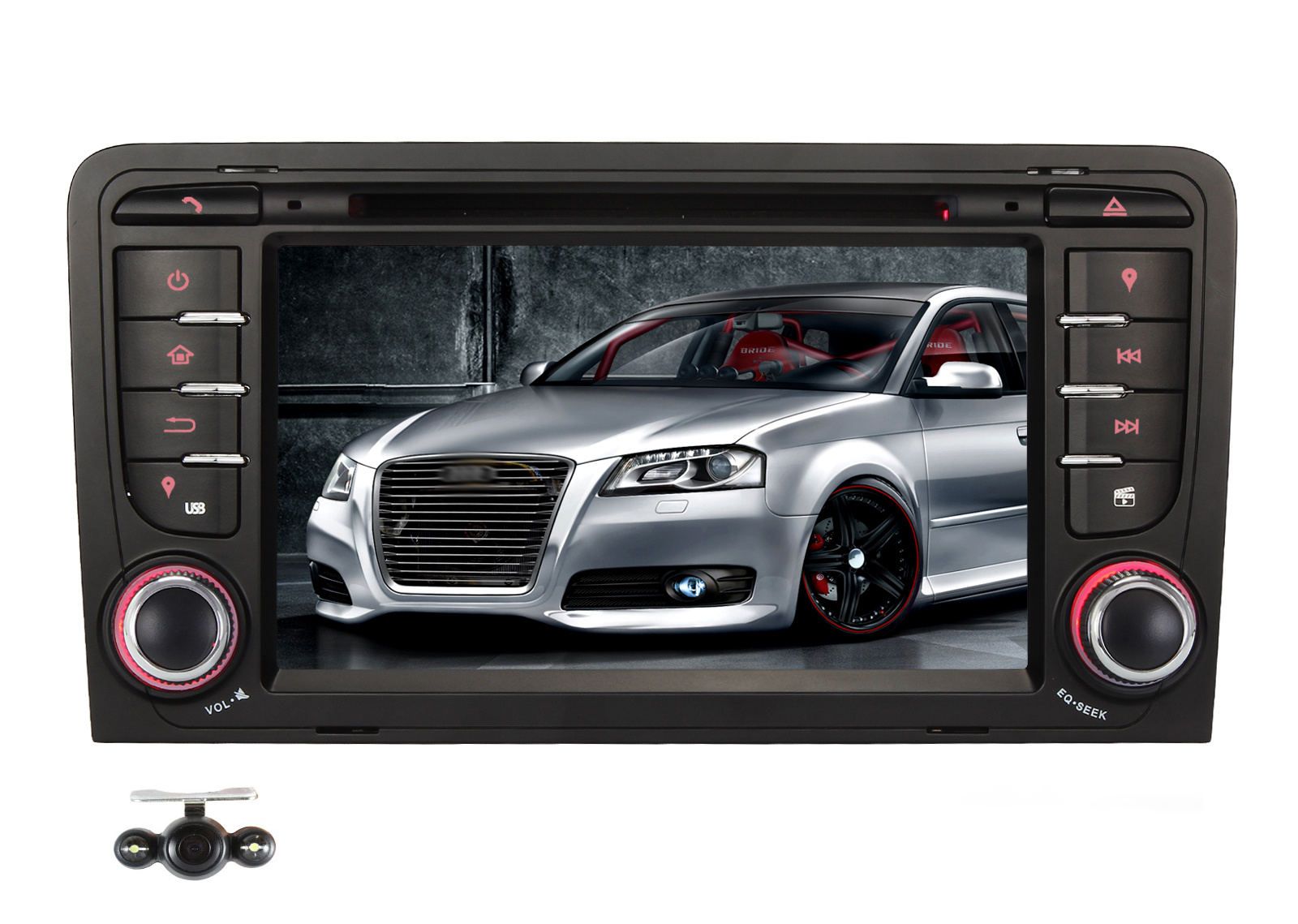 2 din autoradio navigation gps car dvd navi for audi a3 for Mueble 2 din audi a3