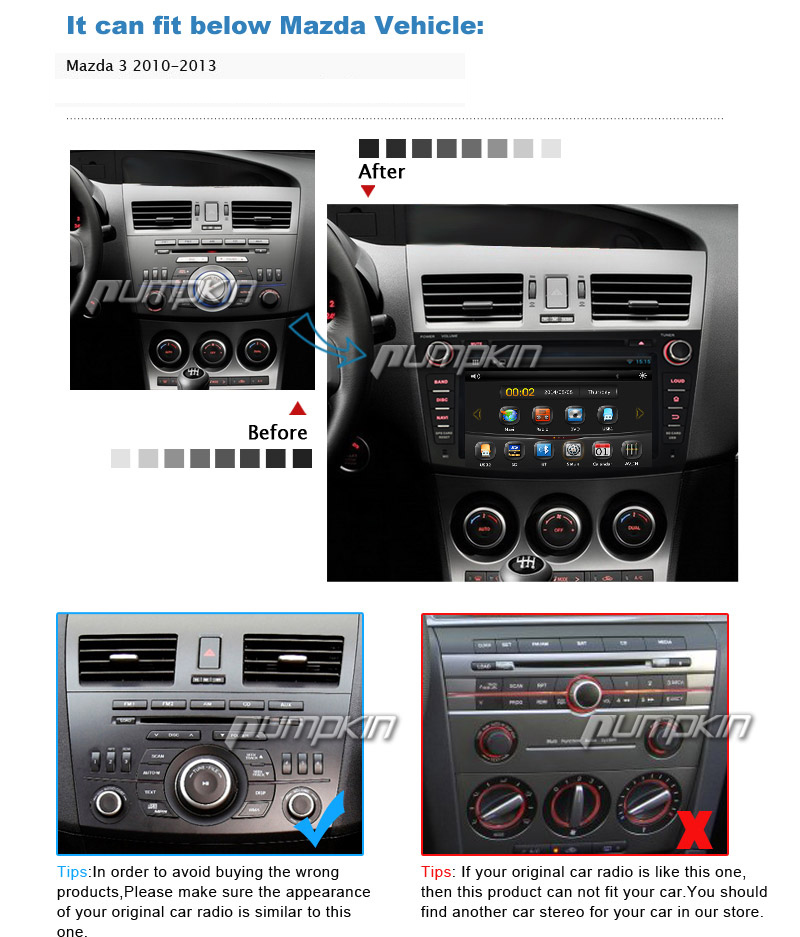 for mazda 3 2010 2011 2012 2013 8 2din car dvd player gps. Black Bedroom Furniture Sets. Home Design Ideas