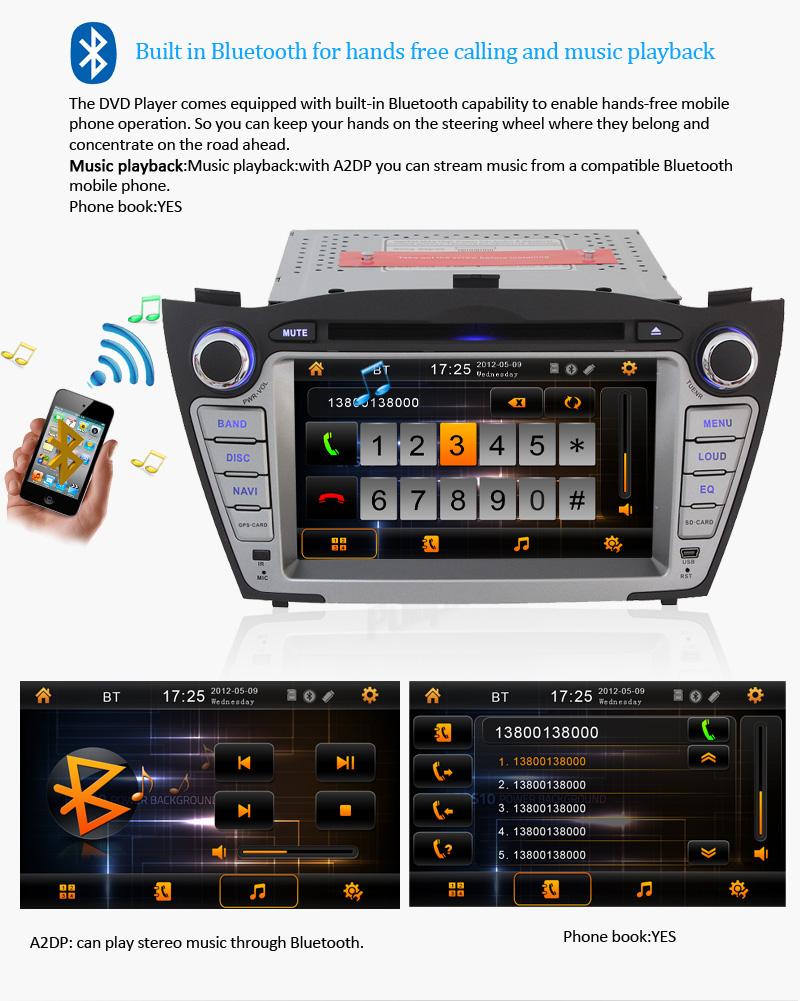 Stereo for Hyundai Tucson IX35 Car Radio DVD Player SAT Nav GPS iPod Audio Aux