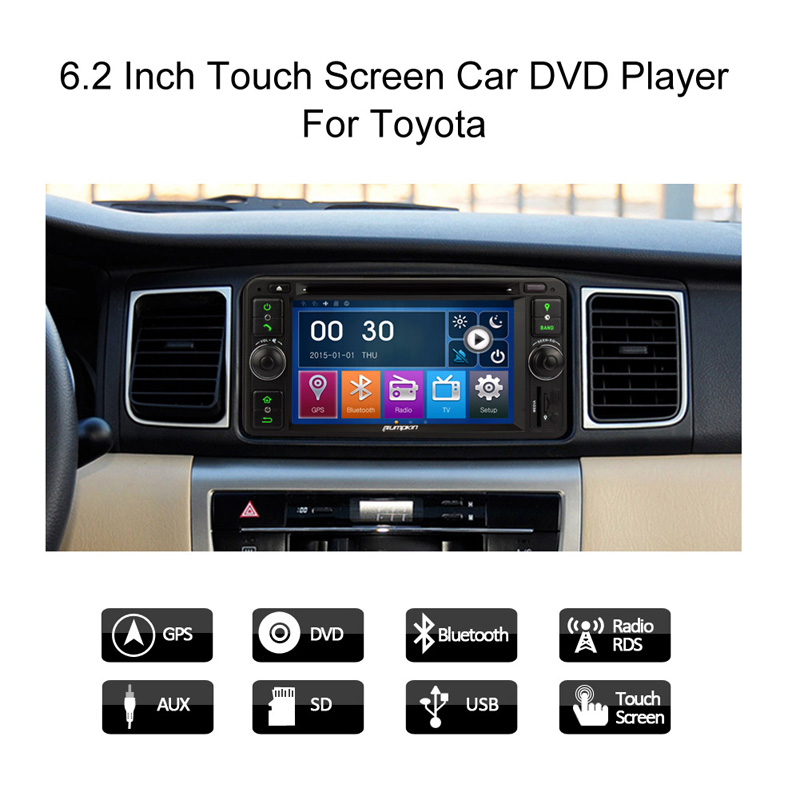 uk stock 6 2 car stereo dvd gps for toyota yaris camry land cruiser hig. Black Bedroom Furniture Sets. Home Design Ideas