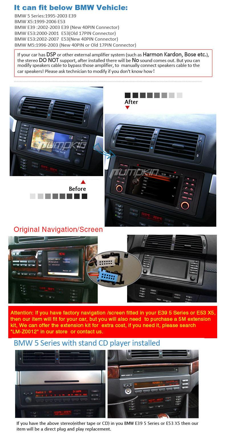 uk 1 din car sat nav dvd gps radio for bmw e39 x5 e53 m5 5. Black Bedroom Furniture Sets. Home Design Ideas