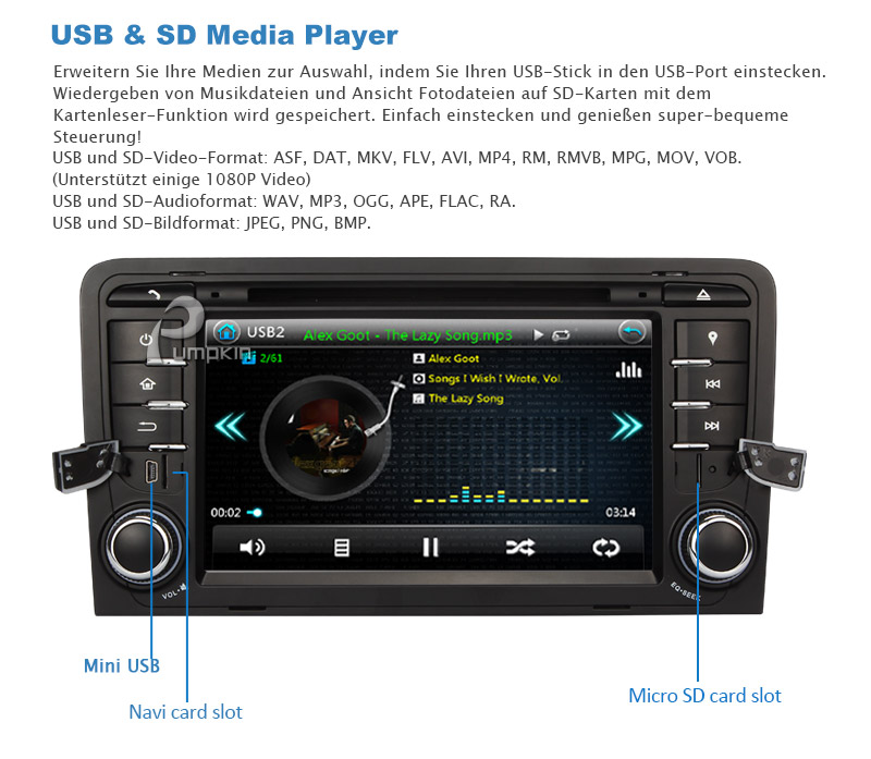 autoradio f r audi a3 cd dvd gps seuzach acheter sur. Black Bedroom Furniture Sets. Home Design Ideas