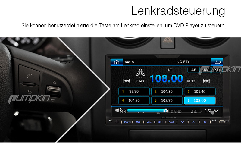 r ckfahrkamera 7 zoll doppel 2 din autoradio player mit gps navi dvd usb sd mp3 ebay. Black Bedroom Furniture Sets. Home Design Ideas
