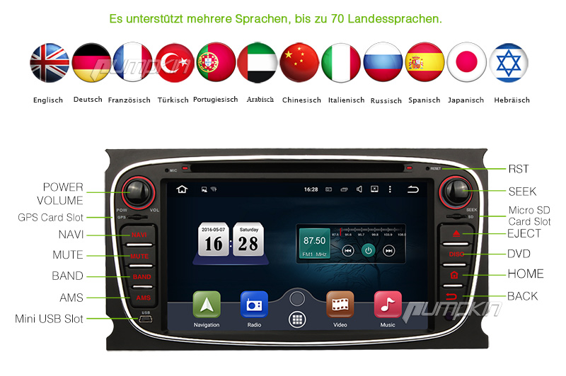 7 gps navi autoradio cd dvd ford s max in seuzach kaufen. Black Bedroom Furniture Sets. Home Design Ideas