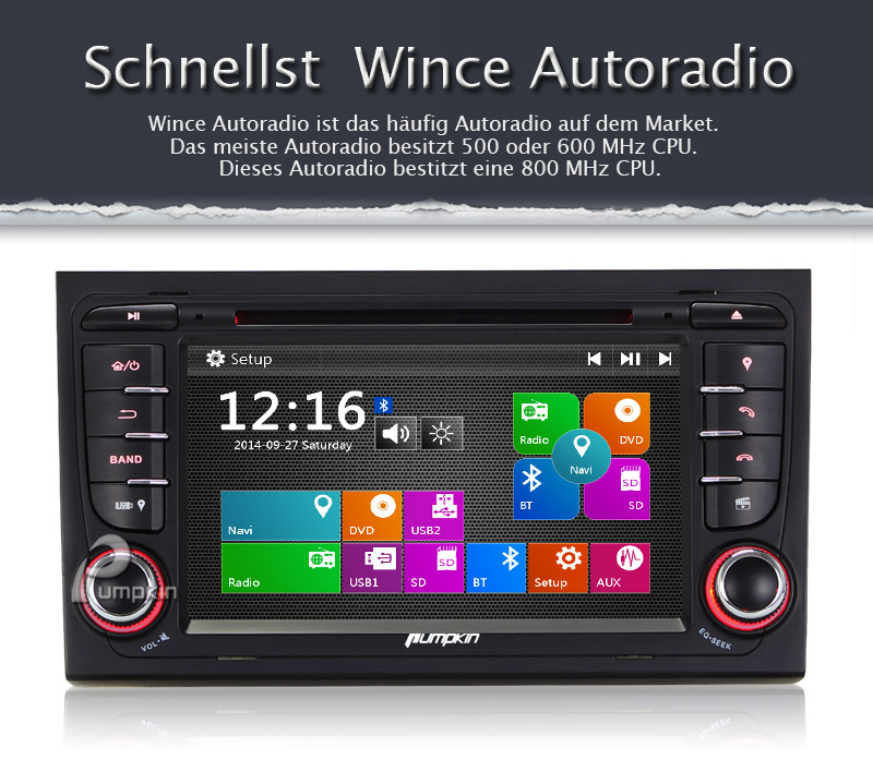 7 autoradio dvd gps navi usb dvr audi a4 in seuzach kaufen bei. Black Bedroom Furniture Sets. Home Design Ideas