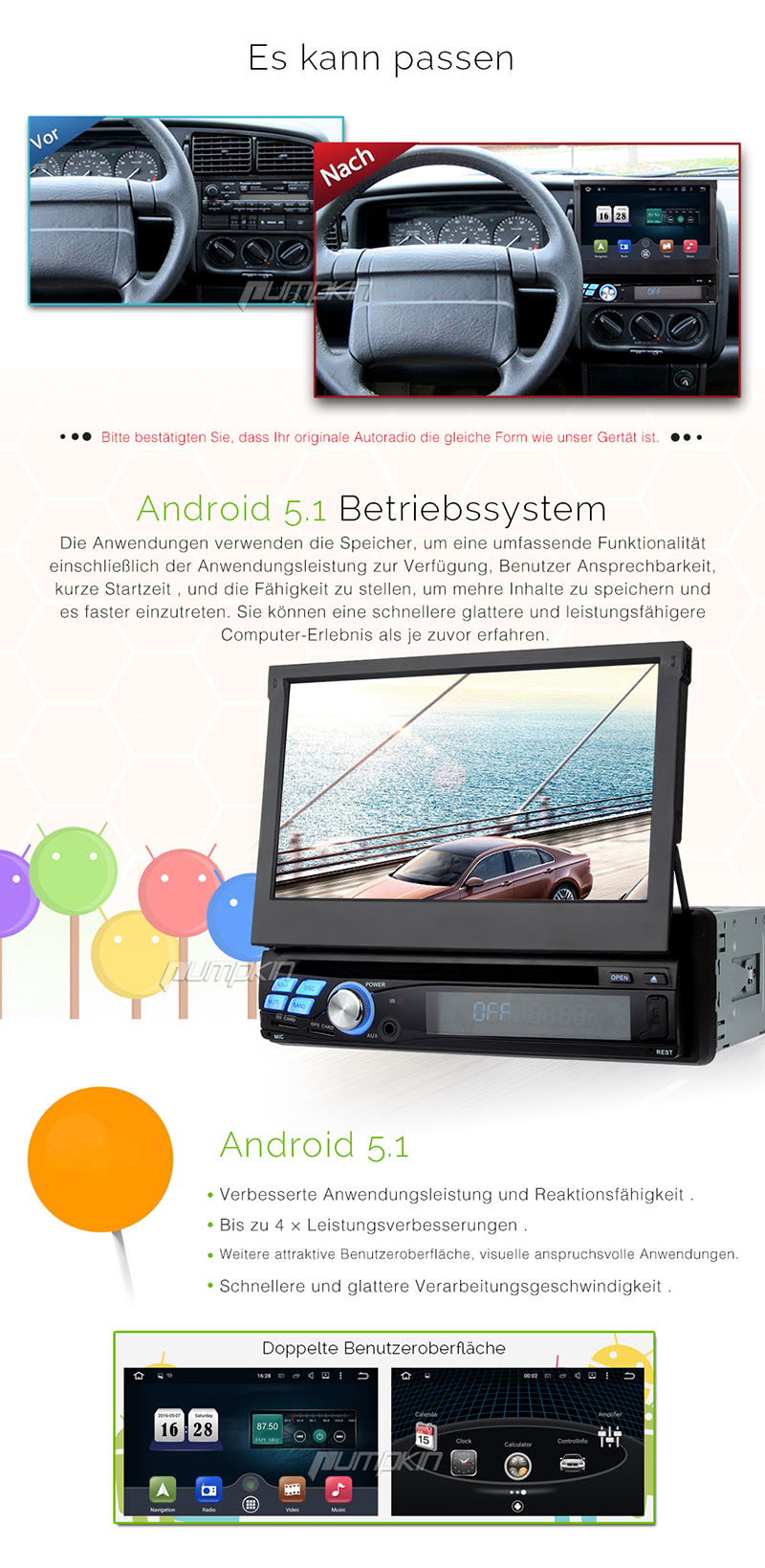 7 1 din autoradio gps dvd cd android 5 1 in seuzach kaufen. Black Bedroom Furniture Sets. Home Design Ideas