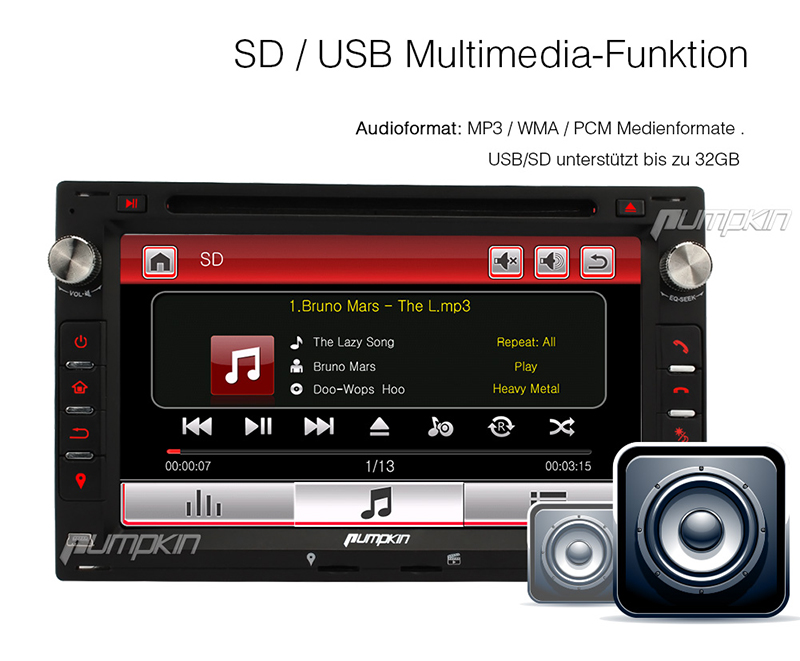 7 dvd player 2 din autoradio mit rds usb sd navi dvr. Black Bedroom Furniture Sets. Home Design Ideas