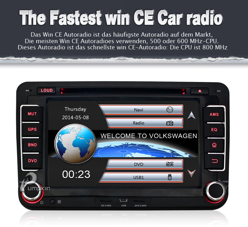 vw autoradio gps navi navigation dvd f r golf 5 6 passat jetta skoda touran polo. Black Bedroom Furniture Sets. Home Design Ideas