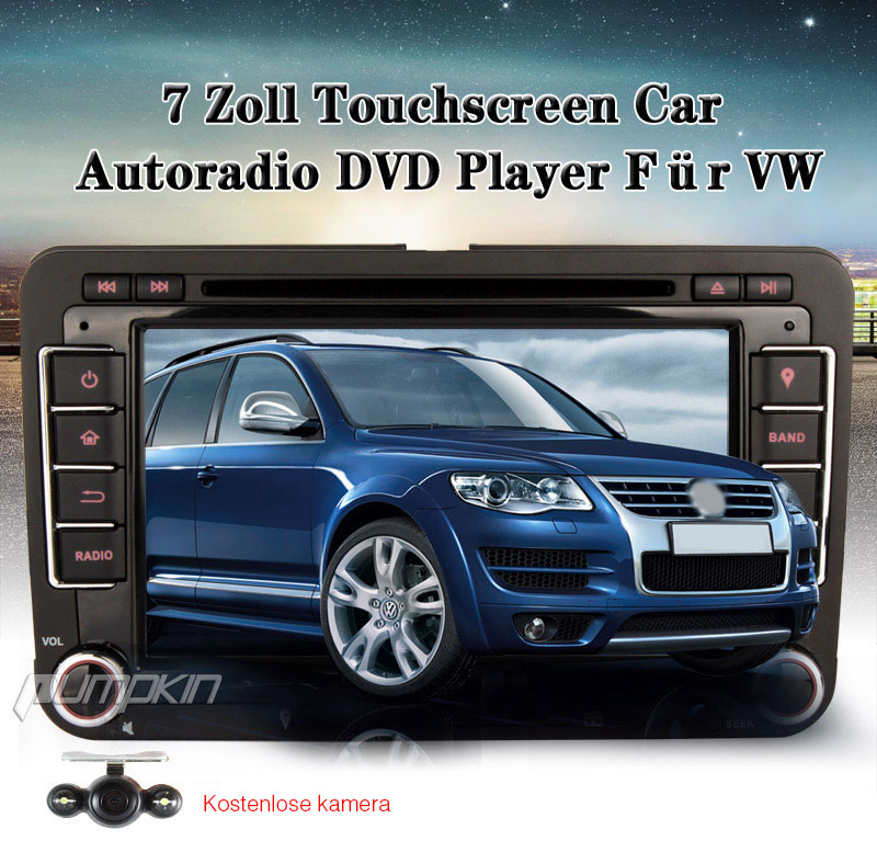 hd autoradio gps navi dvd player f r vw golf jetta polo bt. Black Bedroom Furniture Sets. Home Design Ideas