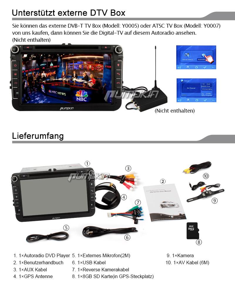 8 doppel din autoradio dvd cd navigation gps touch screen. Black Bedroom Furniture Sets. Home Design Ideas