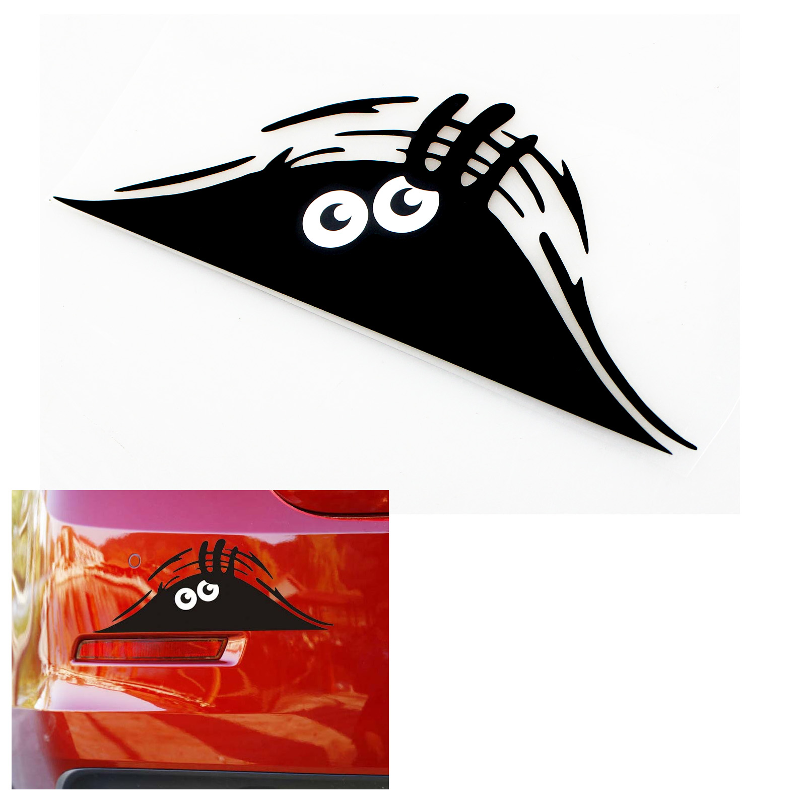 Peeking Monster For Auto Car Walls Windows Funny Sticker