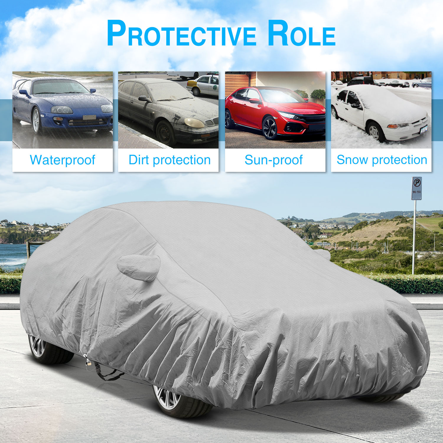 KAKIT 6 Layers Auto Car Cover SUN Wind Waterproof For BMW