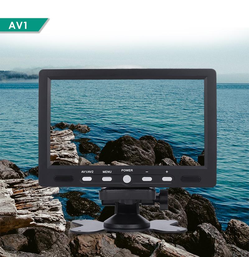 7 lcd tft kfz monitor ntsc pal display bildschirm 16 9 dvd tv av r ckfahrkamera ebay. Black Bedroom Furniture Sets. Home Design Ideas