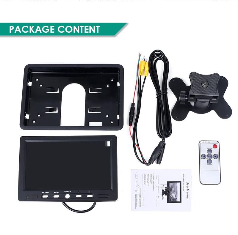 7 zoll tft lcd r ckfahrkamera monitor dvd kamera bildschirm ntsc pal system ebay. Black Bedroom Furniture Sets. Home Design Ideas