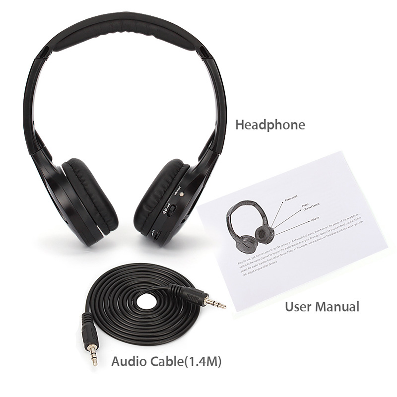 Infrared Wireless Ir Headphone Headset Dual Channel For Car Dvd Player Headrest 607128802327 Ebay