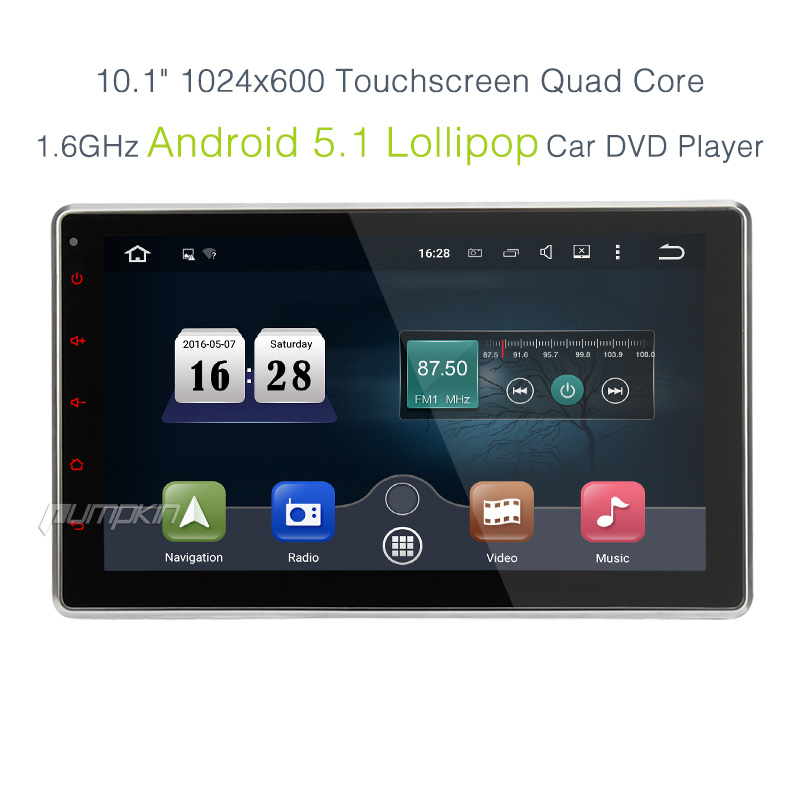 Pumpkin android 5 1 in dash 2din car dvd stereo radio gps for Ebay motors app android