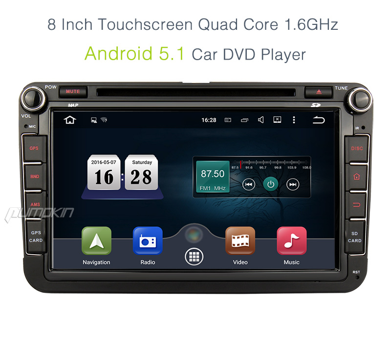 8 android 5 1 autoradio gps navi dab for vw golf tiguan. Black Bedroom Furniture Sets. Home Design Ideas