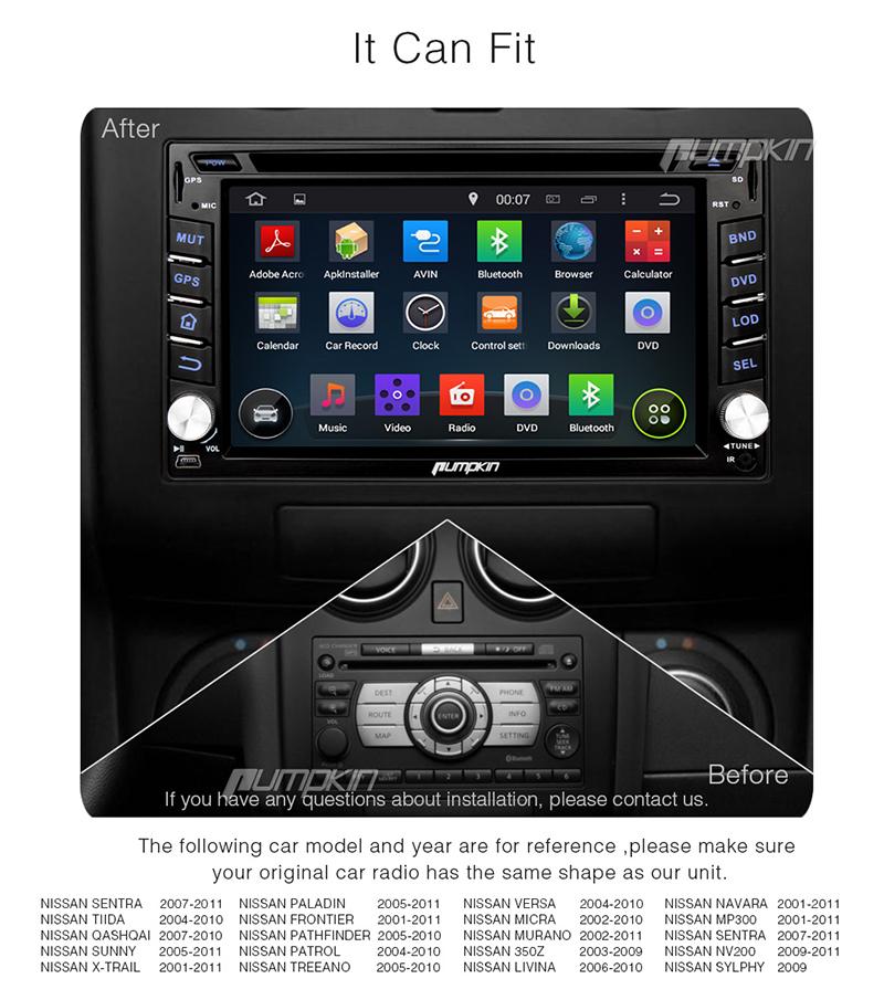 Hd Car Stereo Dvd Cd Player Gps Navigation Dab For Nissan