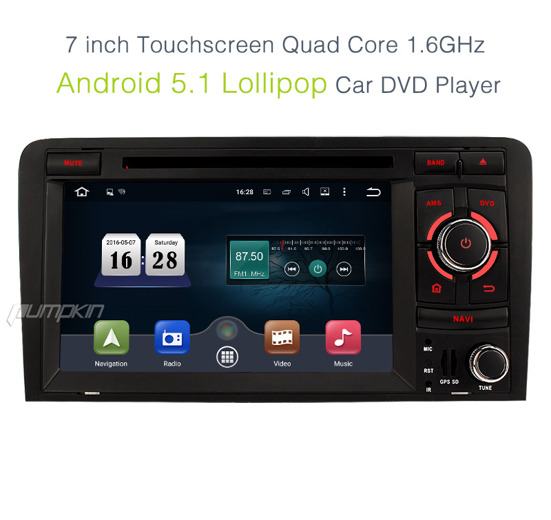 2 din android 5 1 head unit car dvd gps stereo radio for. Black Bedroom Furniture Sets. Home Design Ideas