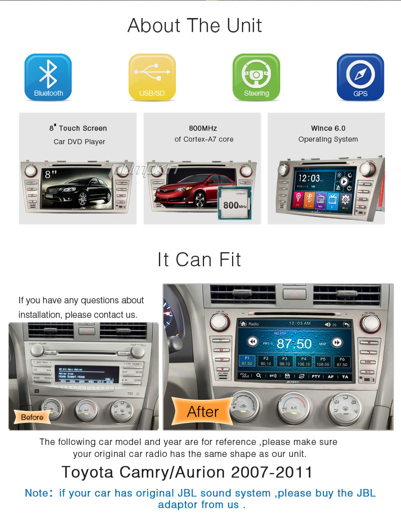 In Dash Car Navigation Systems : In dash din car dvd player gps navigation system stereo