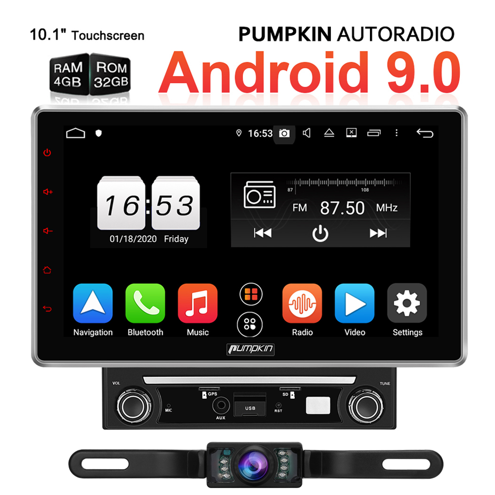 """10.1/"""" Android 8xCore Car Stereo 2Din Truck Sat Nav Bluetooth Radio Touch Screen"""