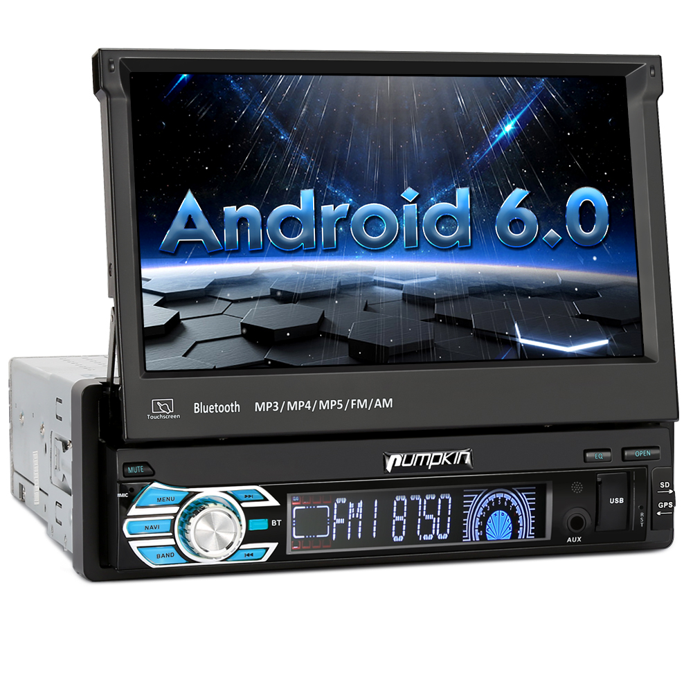 7 1 din android 6 0 autoradio bluetooth navigazione gps. Black Bedroom Furniture Sets. Home Design Ideas