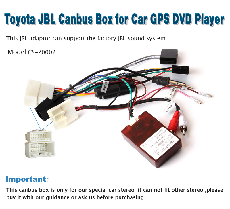 CS-Z0002 Toyota JBL Canbus Decoder Box For Car GPS DVD