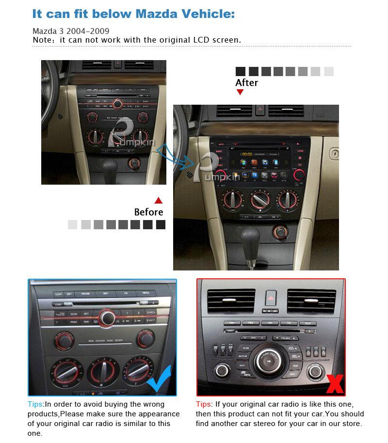 2008 Mazda 3 For Sale 1 6m Obo: For Mazda 3 2004 2005 2006 2007 2008 2009 Car DVD Stereo GPS Navi Radio Player