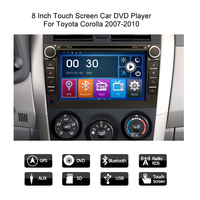 8 U0026quot  Car Sat Nav Radio Stereo Gps Dvd Playe For Toyota