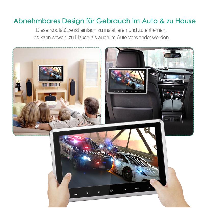 2x10 1 1024x600 tft screen auto kopfst tze monitor dvd. Black Bedroom Furniture Sets. Home Design Ideas