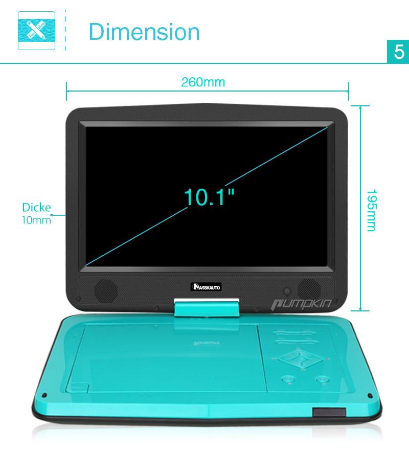 10 1 1024 600 digital tft auto tragbarer portable cd dvd. Black Bedroom Furniture Sets. Home Design Ideas