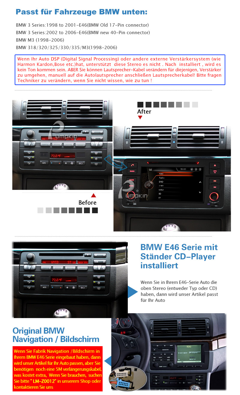 r ckfahrkamera autoradio f r bmw e46 3er m3 318 dvd gps. Black Bedroom Furniture Sets. Home Design Ideas