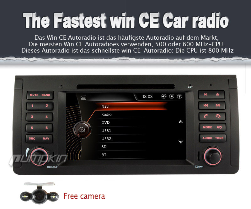 7 zoll autoradio mit dvd gps navi player f r bmw 5er e39. Black Bedroom Furniture Sets. Home Design Ideas