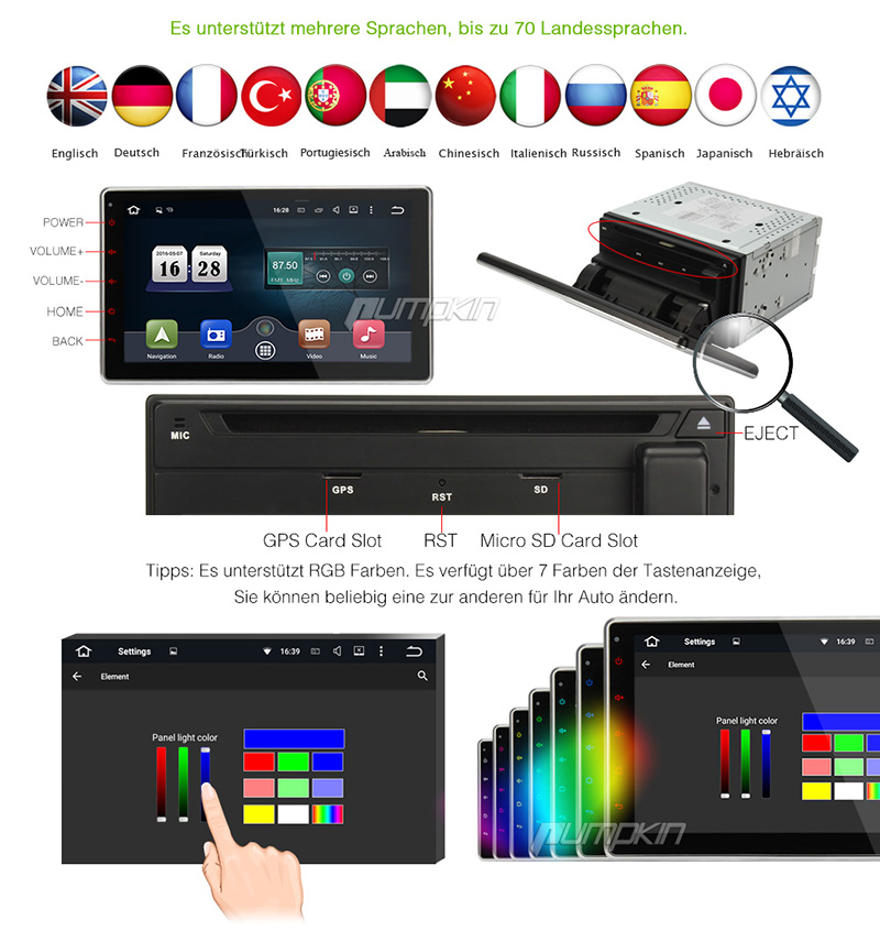 10 1 zoll android 5 1 doppel 2 din autoradio gps navi dvd. Black Bedroom Furniture Sets. Home Design Ideas