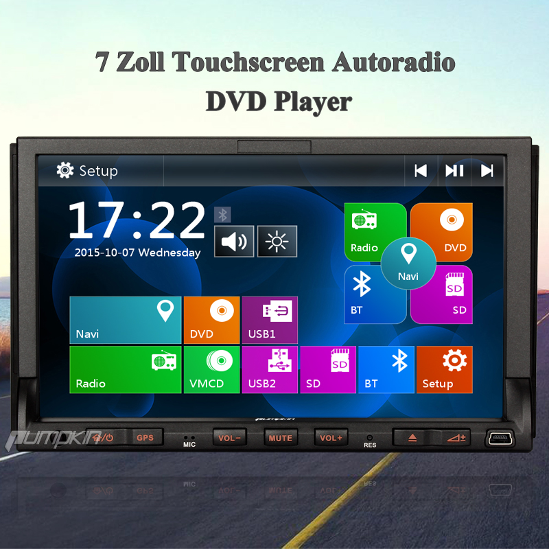 doppel 2din 7 zoll autoradio navigation mit gps dvd player. Black Bedroom Furniture Sets. Home Design Ideas
