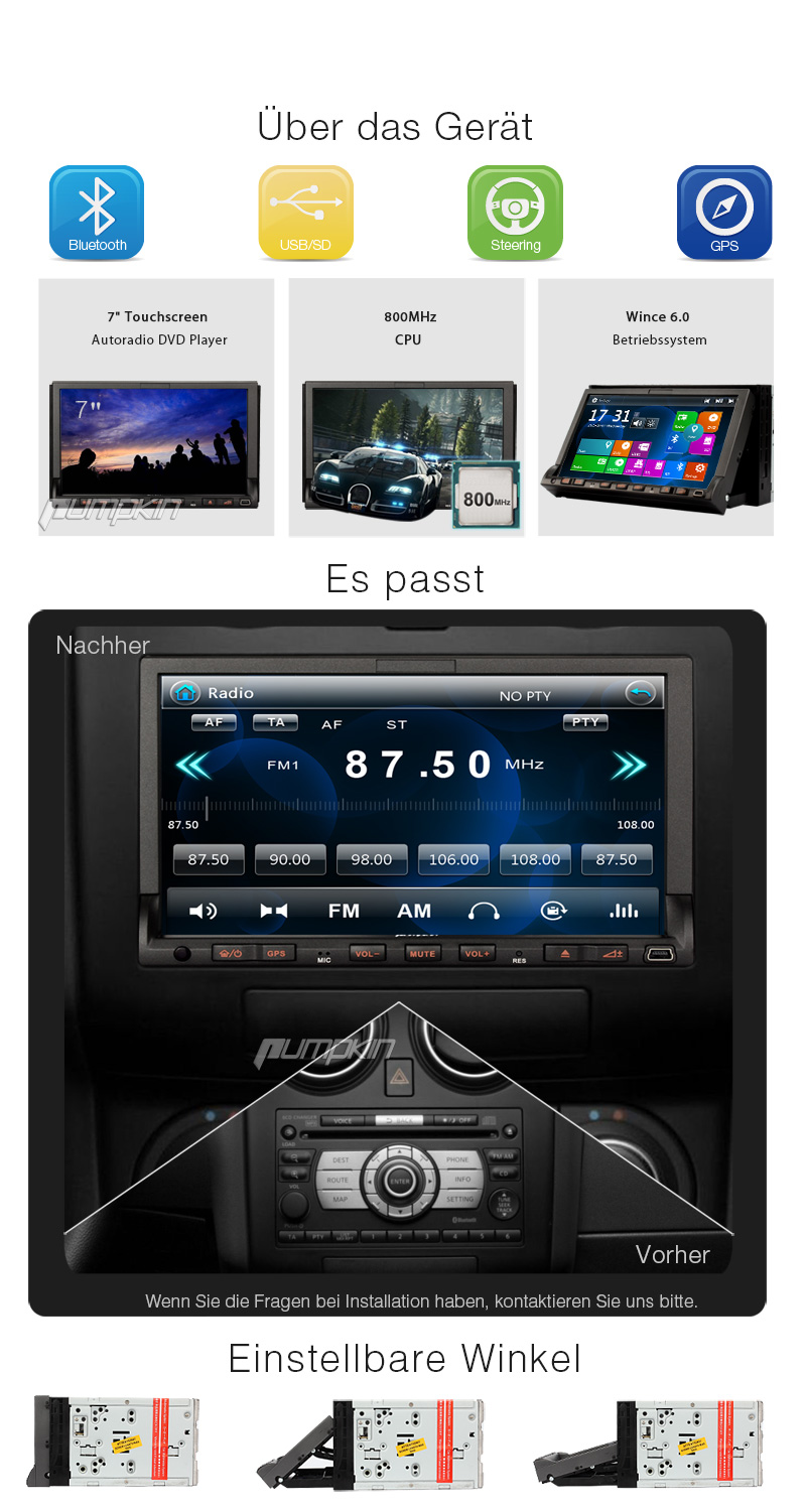 7 zoll autoradio mit touchscreen dvd gps navi player usb sd 3g tv doppel 2din ebay. Black Bedroom Furniture Sets. Home Design Ideas