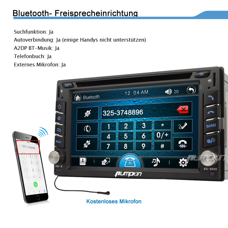 doppel 2 din autoradio mit gps navigation bluetooth touchscreen dvd cd player tv ebay. Black Bedroom Furniture Sets. Home Design Ideas