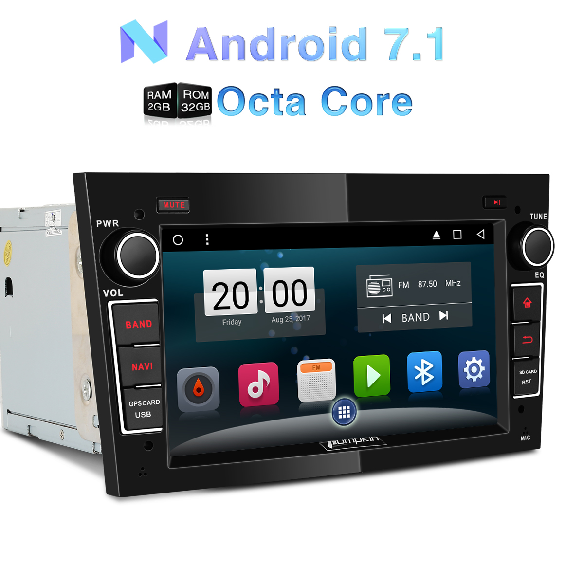 7 39 dvd gps navi autoradio android rds f r opel zafira. Black Bedroom Furniture Sets. Home Design Ideas